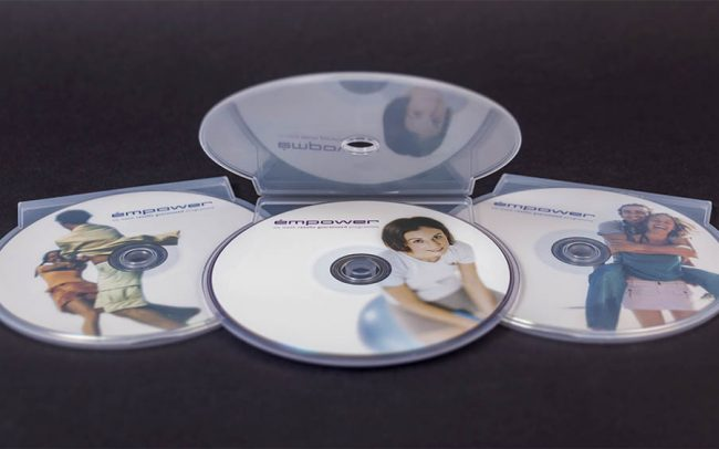 Set of litho printed DVDs in CShell packaging