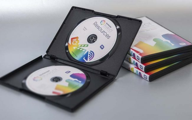 Set of 2 printed and duplicated DVDs in dual DVD case with wrap