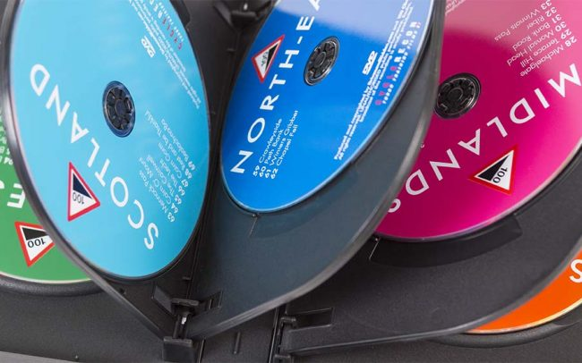 Set of 8 pressed DVDs in a single DVD case