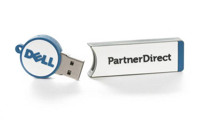 2D custom shaped USB stick promoting a new service