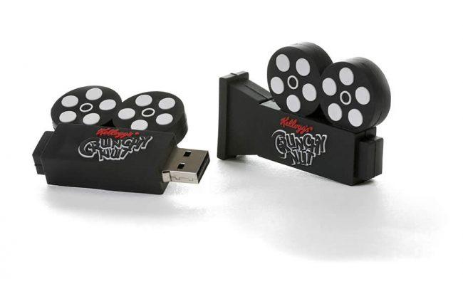 Video film camera 2D custom shaped USB stick
