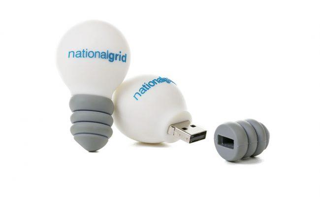 Light bulb shaped 3D custom USB stick