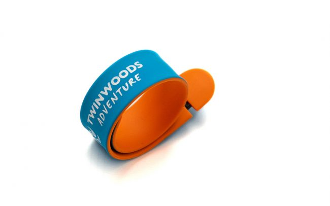 Printed slap band style USB with Pantone matched colours