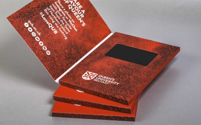 A5 portrait video brochure with 4.3 inch screen